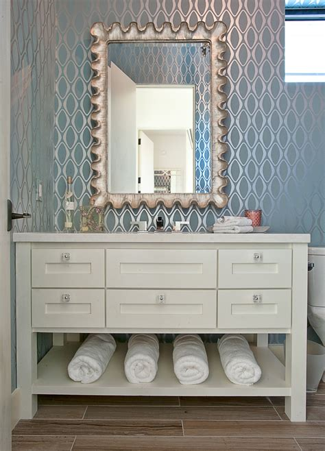 bathroom wallcovering modern blue bathroom wallpaper