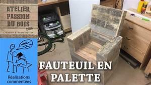 Salon De Jardin Palettes : realiser un salon de jardin en palette un fauteuil youtube ~ Farleysfitness.com Idées de Décoration