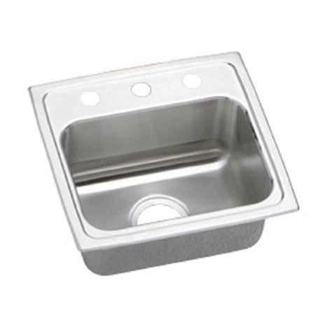 elkay stainless steel kitchen sink elkay lustertone drop in stainless steel 17 in 3 8865