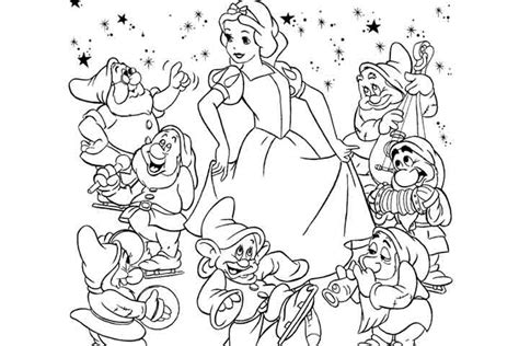 Snow White And The Seven Dwarfs Coloring Pages - Democraciaejustica