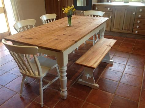 shabby chic dining table with bench shabby chic farmhouse tables collection on ebay