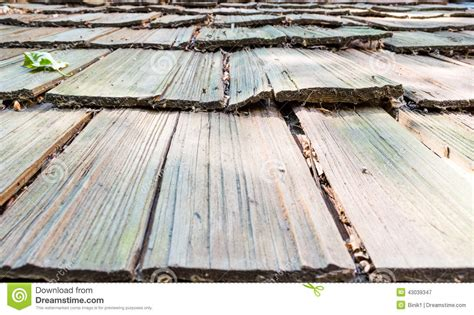 close   roof wooden planks stock photo image