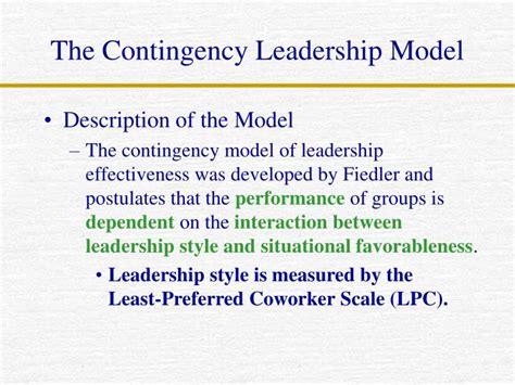 lpc model  leadership fiedlers contingency theory