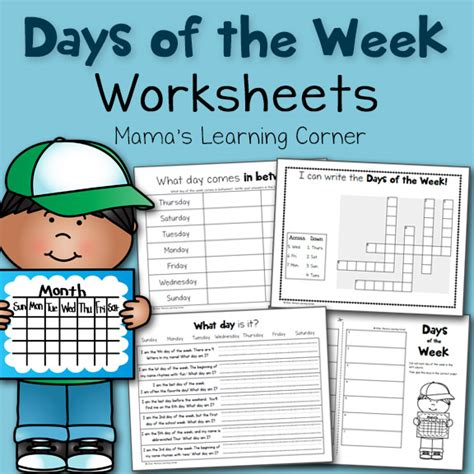 Days of the Week Worksheets - Mamas Learning Corner