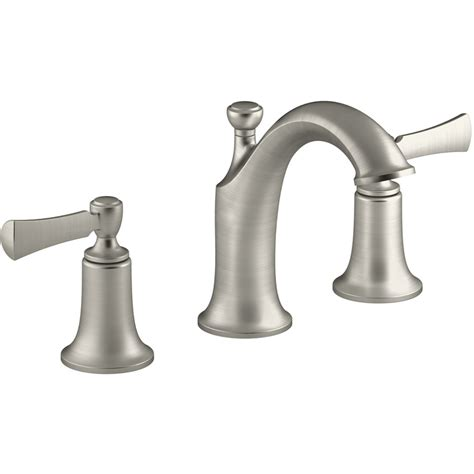 lowes bathroom sink faucets brushed nickel shop kohler elliston vibrant brushed nickel 2 handle