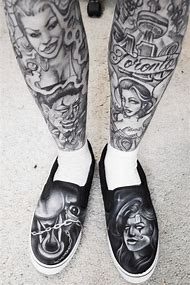 Chicano Art Sleeve Tattoo Designs