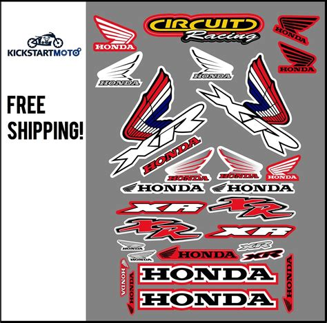 for honda xr250 xr400 xr600 xr650 sticker kit xr 250 400 600 650 decal stickers ebay
