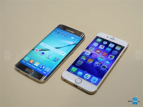 iphone edge samsung galaxy s6 edge vs iphone 6 battle of the