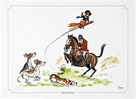 flying fox fox hunting horse  hound limited edition