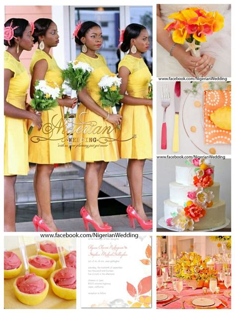 coral color scheme yellow white coral wedding color scheme wedding color