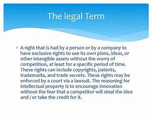 The Definition Of Intellectual Property Rights