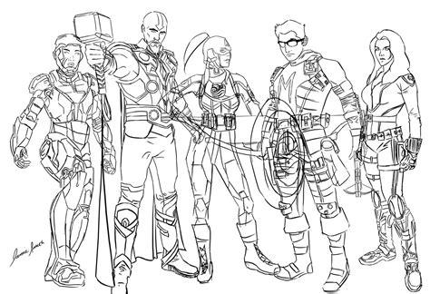 bender avengers sketch by ofpink on deviantart