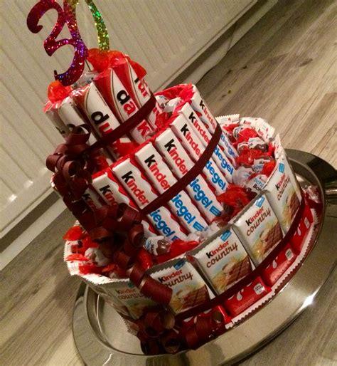 kinderschokolade torte basteln birthday cake kinderschokolade diy geschenk kinderschokolade geschenkideen und