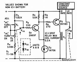 quasi constant current battery charger power supply With constant current battery charger circuit this is a adjustable constant
