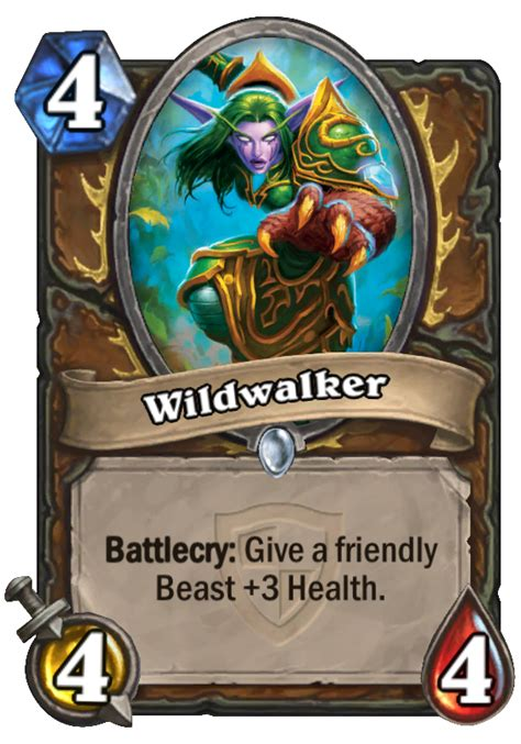 hearthstone beast deck 2015 wildwalker hearthstone card