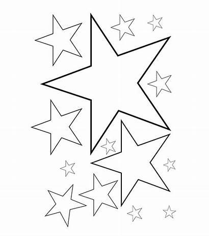 Coloring Stars Pages Star Toddler Printable Malvorlagen