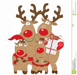 Reindeer clipart family - Pencil and in color reindeer ...