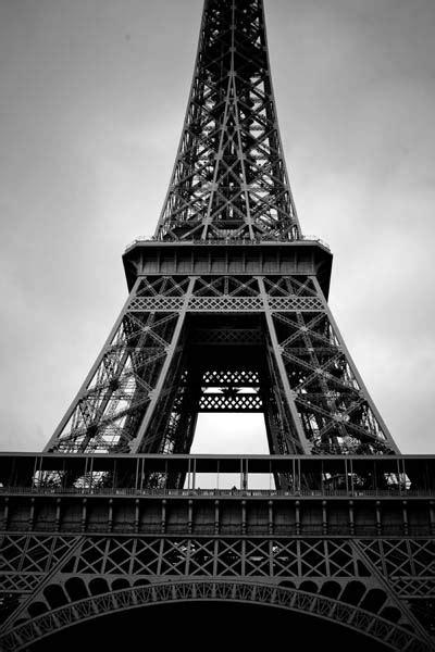 paris paris eiffel tower black  white