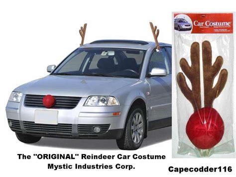 rudolph reindeer antlers nose car costume all vehicles