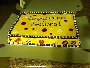 Sport banquet senior cake | Cool Cakes | Pinterest