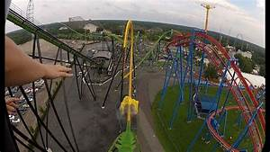 Six Flags Green Lantern Pov Hd Roller Coaster Front Seat