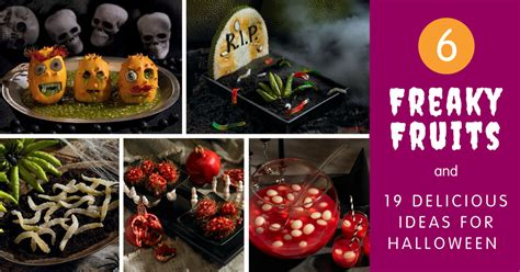 6 Freaky Fruits & 19 Delicious Ideas For Halloween