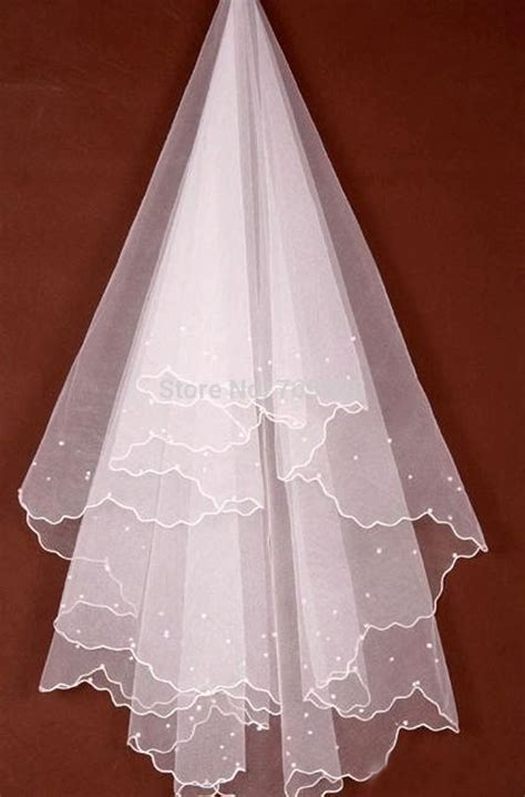 Romantic Bridal Veil Pearl Sticky Beaded Wedding Veil