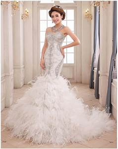 Online buy wholesale feather mermaid wedding dress from for Feather mermaid wedding dress