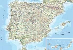 Carte Du Monde Metallique : carte routi re espagne et portugal arts et voyages ~ Teatrodelosmanantiales.com Idées de Décoration
