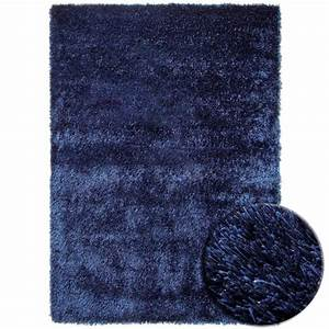 tapis shaggy bleu esprit home new glamour With tapis bleu marine