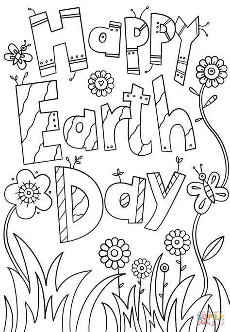 happy earth day coloring page  printable coloring pages
