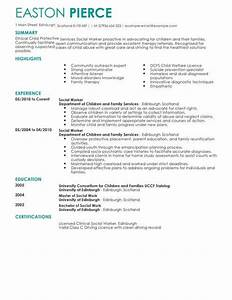 Professional Resume Cover Letter Template Social Services Cv Templates Cv Samples Examples