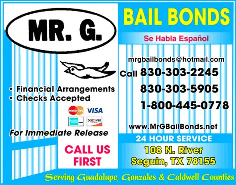 Mr G Bail Bonds, Seguin, Tx 78155   Yellowbook. Free Website Without Domain Name. Klondike Bar Shot Recipe Sales Tax Refund Usa. Allstate Commercial Auto Insurance. Online Degree Criminal Justice