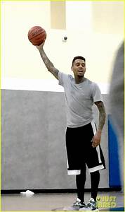 Full Sized Photo of chris brown basketball game bodyguard ...