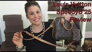 Louis Vuitton SpeedyB 25 review - YouTube