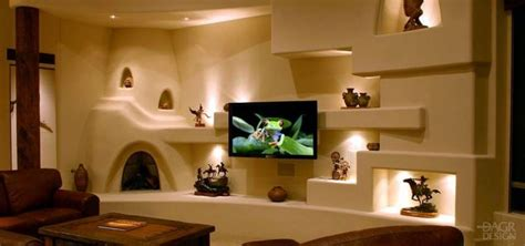 breathtaking gypsum board niches tv wall unit