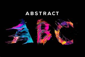 abstract abc unique painted letters with transparent With abstract letter art