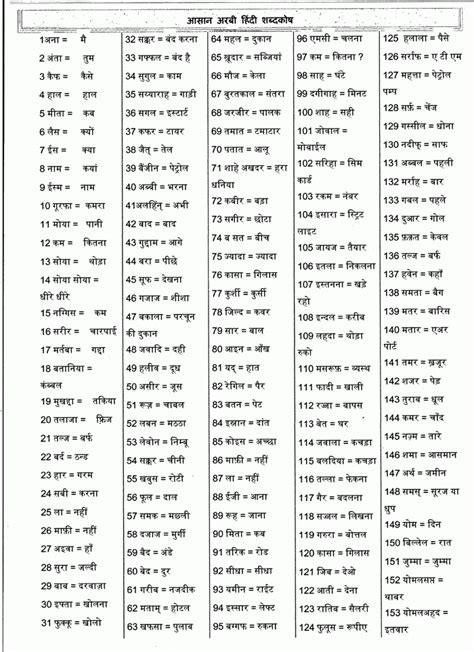 Arabic Hindi Dictionary अरबी हिंदी डिक्शनरी Net In