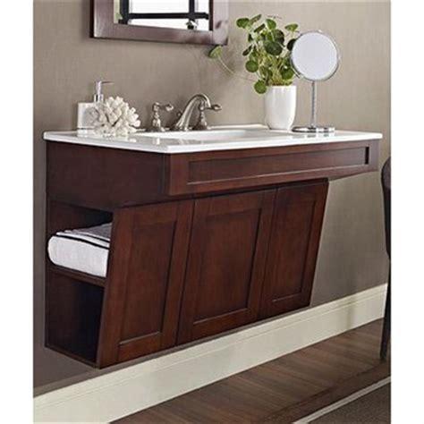 fairmont designs shaker 36 quot wall mount ada vanity dark cherry free shipping modern bathroom