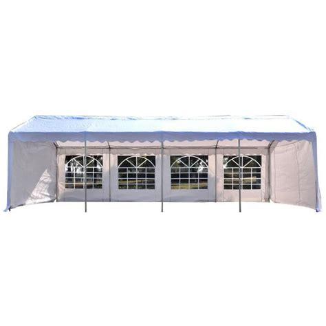 chapiteau de reception pas cher outsunny tente tonnelle de r 233 ception jardin chapiteau pe imperm 233 able acier 7 98l x 3 92l x