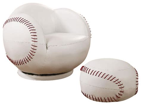 kids baseball chair and ottoman coaster small kids baseball chair and ottoman 460177