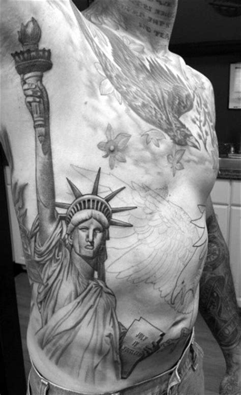 70 Statue Of Liberty Tattoo Designs For Men - New York City