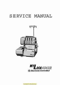 Janome 434dr Mylock Sewing Machine Service Manual