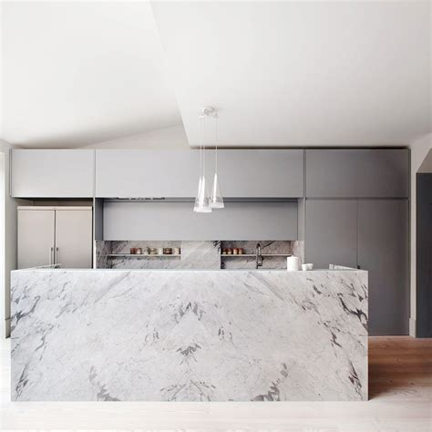modern island kitchen 19 of the most stunning modern marble kitchens marble