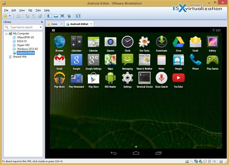 android vm how to install android kitkat in vmware workstation esx