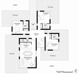 plan maison d architecte contemporaine ventana blog With plans de maison gratuit 9 maison contemporaine avec piscine interieure apla
