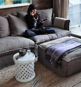 sofa style big and fluffy vintage grey master sitting With big comfy throw pillows