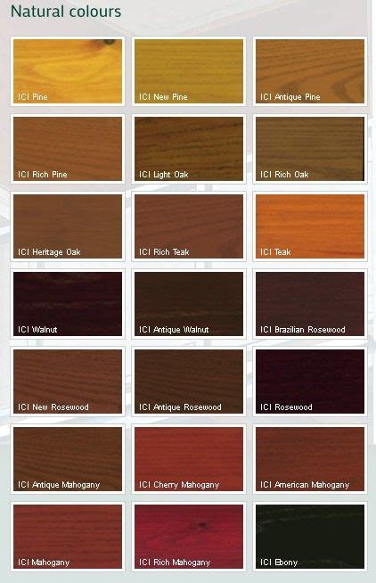 wood color chart dulux trade protective woodsheen tinted colours