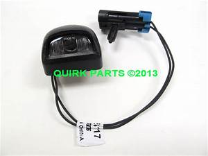 2009 2011 Chevy Traverse Rear License Plate Lamp W Wiring