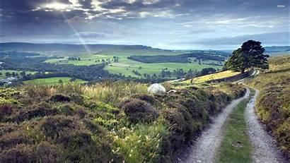 1440 Hilltop Nature Landscape Desktop Road 2550